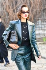 BELLA HADID Arrives at Lanvin Show at Paris Fashion Week 02/26/2020