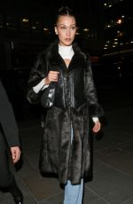 BELLA HADID Out and About in London 02/17/2020