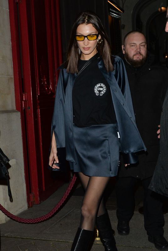 BELLA HADID Out and About in Paris 02/27/2020