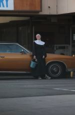 BELLA THORNE Dressed as a Nun in New Project Upcoming Movie in Los Angeles 02/17/2020