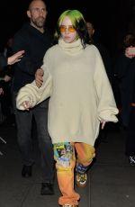 BILLIE EILISH Arrives at BBC Studios in London 02/19/2020
