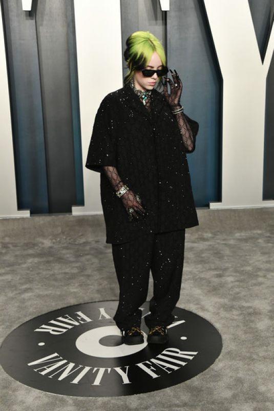 BILLIE EILISH at 2020 Vanity Fair Oscar Party in Beverly Hills 02/09/2020