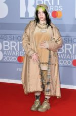 BILLIE EILISH at Brit Awards 2020 in London 02/18/2020