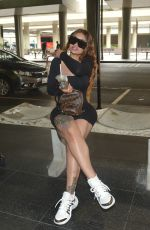 BLAC CHYNA Arrives at Airport in Sao Paulo 02/21/2020