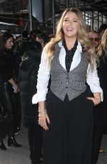 BLAKE LIVELY Arrives at Michael Kors Fashion Show in New York 02/12/2020