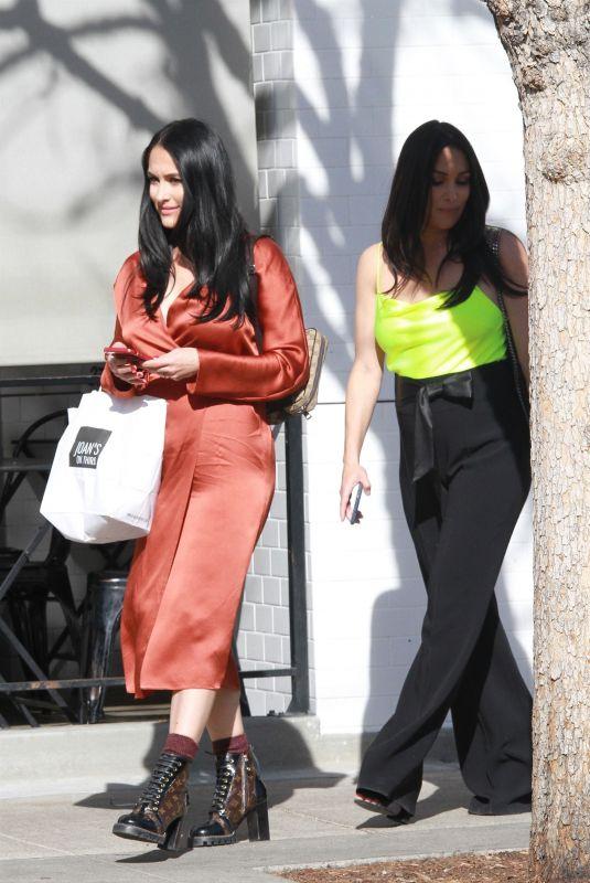 BRIE and NIKKI BELLA Leaves Joan's on Third in Studio City 02/26/2020