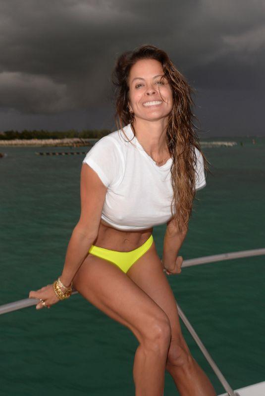 BROOKE BURKE in Bikini Bottom at a Yacht in Dominican Republic 02/25/2020