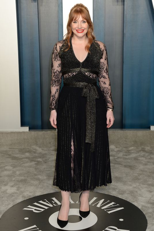BRYCE DALLAS HOWARD at 2020 Vanity Fair Oscar Party in Beverly Hills 02/09/2020