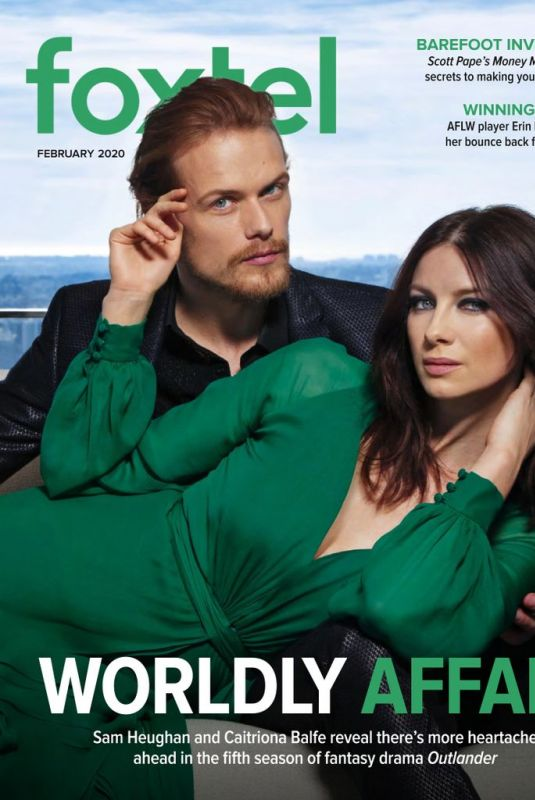 CAITRIONA BALFE and Sam Heughan on the Cover of Foxtel Magazine, February 2020