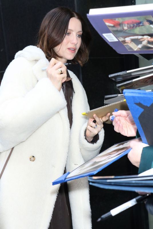 CAITRIONA BALFE Arrives at Strahan, Sara & Keke in New York 02/12/2020