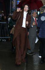 CAITRIONA BALFE Leaves Good Morning America in New York 02/11/2020