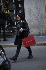 CAMILA MENDES Leaves Salvatore Ferragamo Store in Milan 02/21/2020