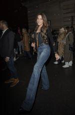 CARLA BRUNI in Denim Arrives at Celine Fashion Show in Paris 02/28/2020
