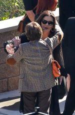 CATHERINE ZETA JONES Arrives at Kirk Douglas