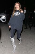 CHANTEL JEFFRIES Leaves a Party in Los Angeles 02/14/2020