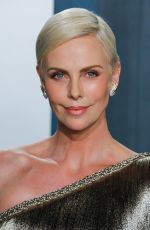 CHARLIZE THERON at 2020 Vanity Fair Oscar Party in Beverly Hills 02/09/2020