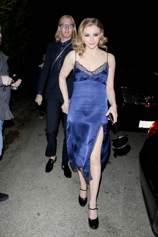 CHLOE MORETZ Arrives at William Morris Endeavor Pre-oscars Party in Beverly Hills 02/07/2020