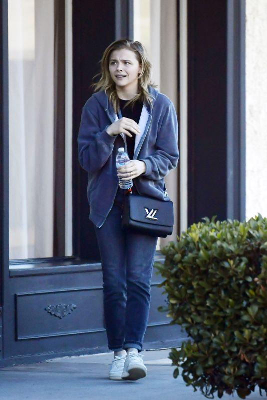 CHLOE MORETZ Out and About in Los Angeles 02/04/2020
