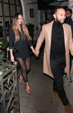 CHRISSY TEIGEN and John Legend at Madeo Restaurant in Beverly HIlls 02/27/2020