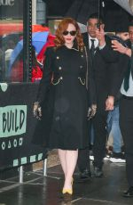 CHRISTINA HENDRICKS Leaves Build Series in New York 02/13/2020