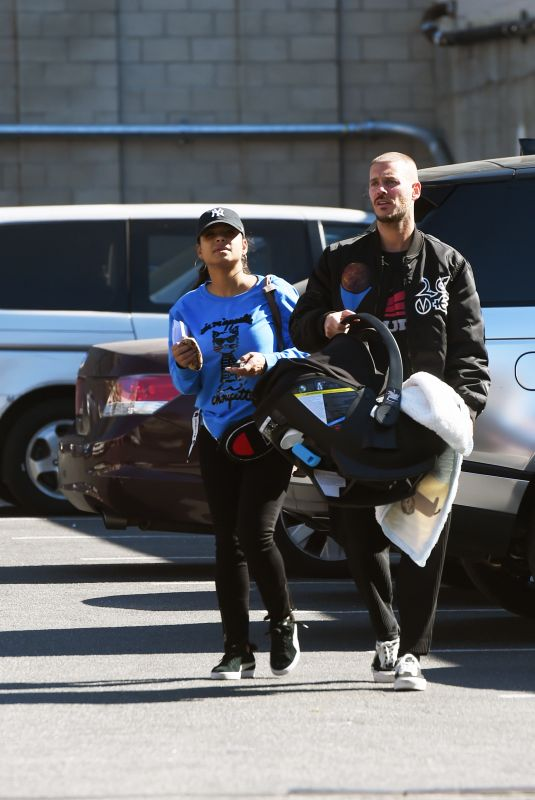 CHRISTINA MILIAN and Matt Pokora Out on Valentine's Day in Hollywood 02/14/2020