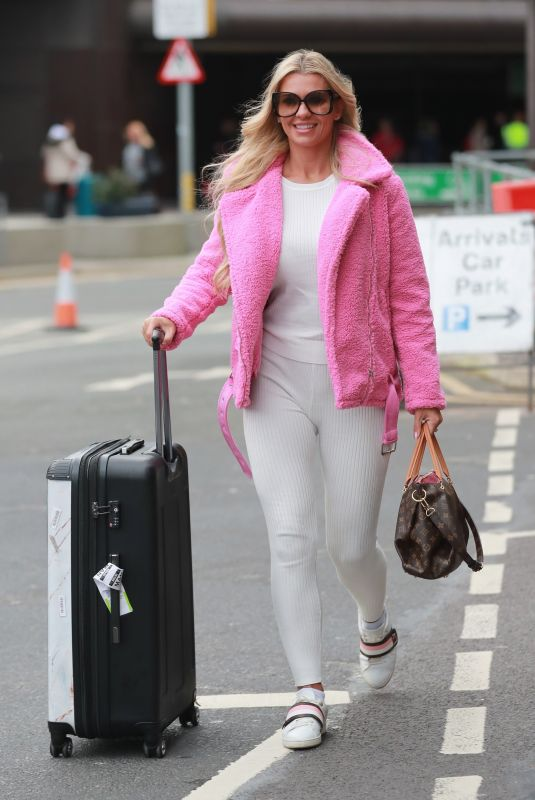 CHRISTINE MCGUINNESS at Airport in Manchester 02/01/2020
