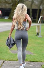 CHRISTINE MCGUINNESS in Tights Leaves a Gym in Cheshire 02/03/2020
