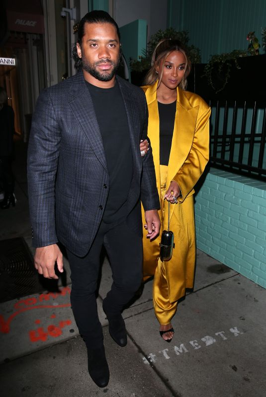 CIARA and Russell Wilson at Olivetta Restaurant in West Hollywood 02/08/2020