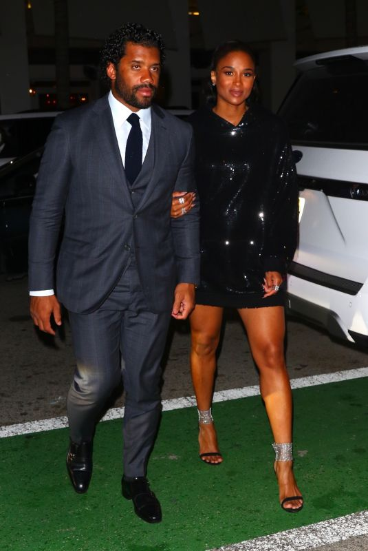 CIARA and Russell Wilson Night Out in Miami 01/31/2020