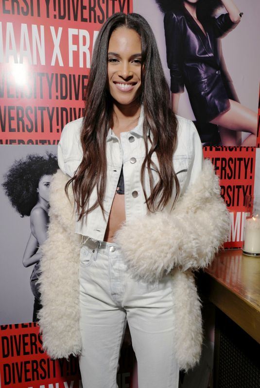 CINDY BRUNA at Frame x Imaan Dinner at New York Fashion Week 02/07/2020
