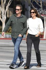 CINDY CRAWFORD and Rande Gerber Out for Lunch in West Hollywood 02/18/2020