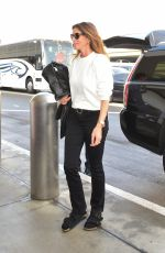 CINDY CRAWFORD at Los Angeles International Airport 02/08/2020