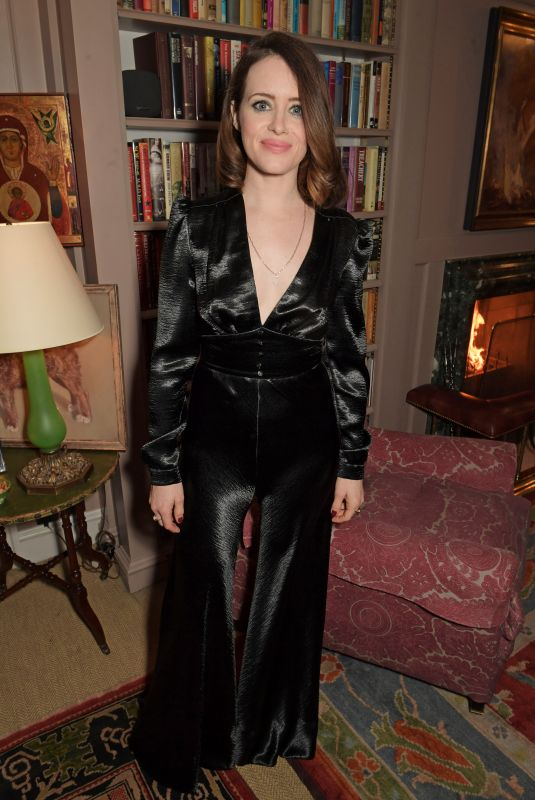 CLAIRE FOY at Charles Finch and Chanel Pre-Bafta Party in London 02/01/2020