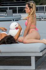 CLAUDIA ROMANI and CLOE GRECO in Bikinis at a Beach in Miami 02/12/2020