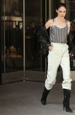 COCO ROCHA Arrives at Longchamp Show at New York Fashion Week 02/08/2020