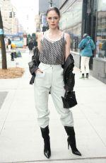 COCO ROCHA Leaves Longchamp Show at New York Fashion Week 02/08/2020