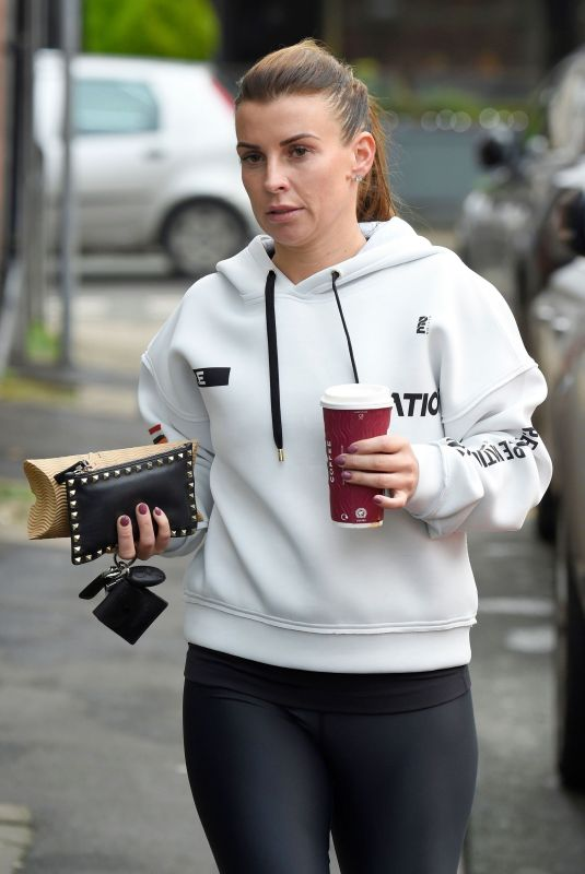 COLEEN ROONEY at Costa Coffee in Cheshire 02/05/2020