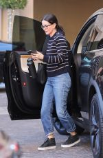 COURTENEY COX Arrives at Montage Hotel in Beverly Hills 02/10/2020