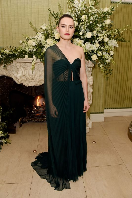 DAISY RIDLEY at Bafta Vogue x Tiffany Fashion and Film After-party in London 02/02/2020