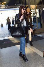 DAKOTA JOHNSON at LAX Airport in Los Angeles 02/14/2020