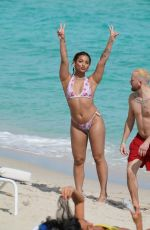 DANILEIGH in Bikini at a Beach in Miami 02/05/2020