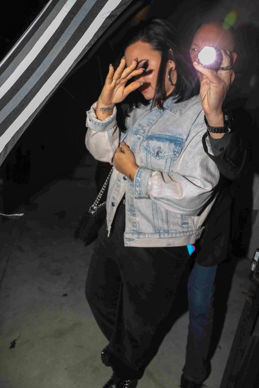 DEMI LOVATO Leaves Evening Church Service in Los Angeles 02/12/2020