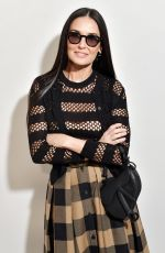 DEMI MOORE at Dior Fashion Show in Paris 02/25/2020