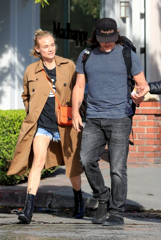 DIANE KRUGER and Norman Reedus Out in Los Angeles 02/24/2020