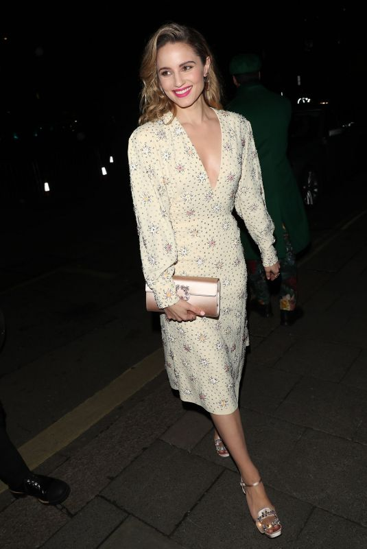 DIANNA AGRON Arrives at Bafta Vogue x Tiffany Fashion and Film After-party in London 02/02/2020