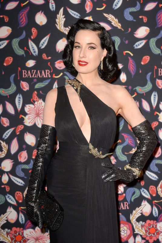 DITA VON TEESE at Harper's Bazaar Exhibtion in Paris 02/26/2020