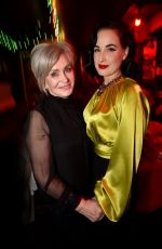 DITA VON TEESE at Ozzy Osbourne Global Tattoo and Album Listening Party in Los Angeles 02/20/2020
