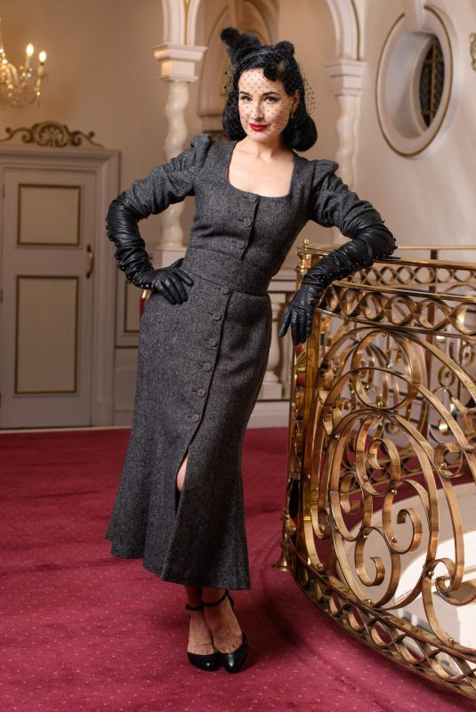 DITA VON TEESE Promote Her New Tour Glamonatrix at Palladium Theatre in London 01/31/2020