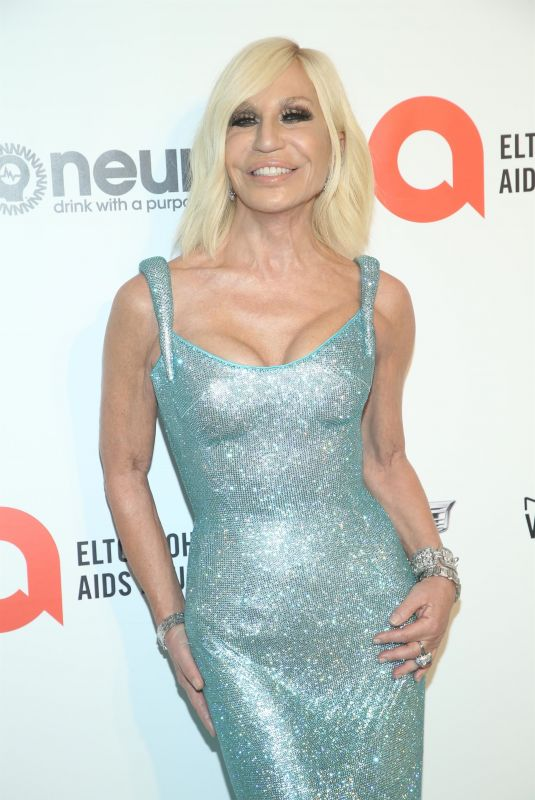 DONATELLA VERSACE at Elton John Aids Foundation Oscar Viewing Party in West Hollywood 02/09/2020