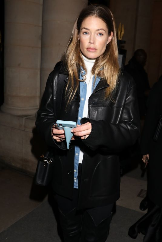 DOUTZEN KROES Leaves Isabel Marant Fashion Show in Paris 02/27/2020